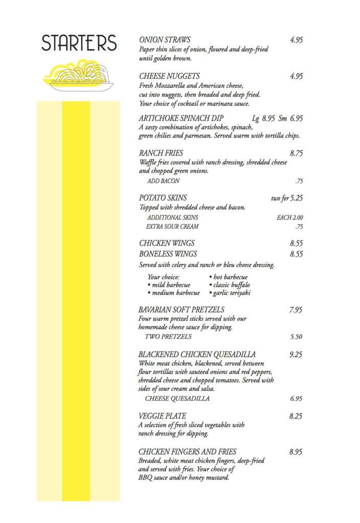 Bacalls Menu 6-2pg4